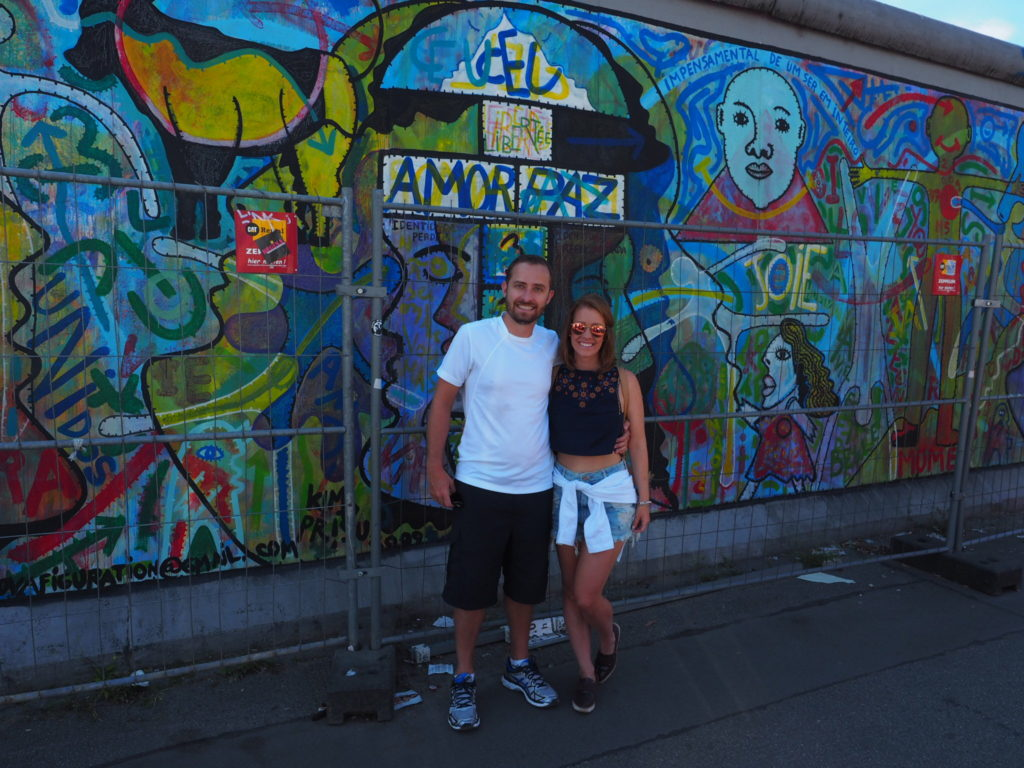 Parte do muro na East Side Gallery